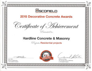 SCOFIELD 2015 Decorative Concrete Awards